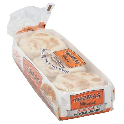 Packaged Bread: Thomas' English Muffins Original with Whole Grains