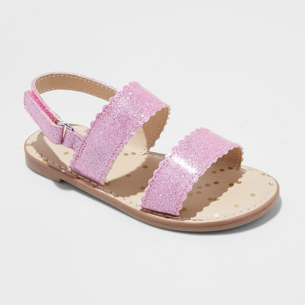 Toddler Girls' Calypso Two Piece Footbed Sandals - Cat & Jack Pink 8