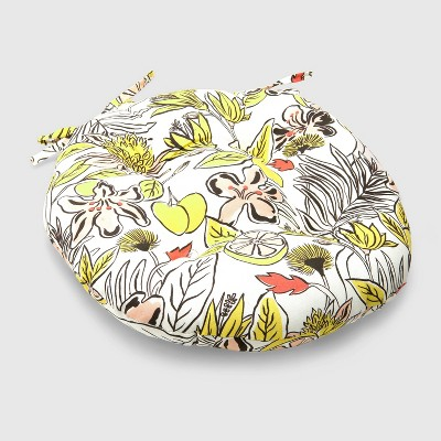 Party Floral Round Outdoor Tufted Seat Cushion - Opalhouse™