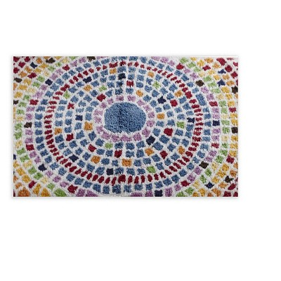 Picasso Collection 100% Ring Spun Cotton Rectangle Bath Rug Mosaic - Better Trends