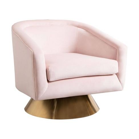 Leyla Velvet Swivel Chair - Abbyson Living - image 1 of 4