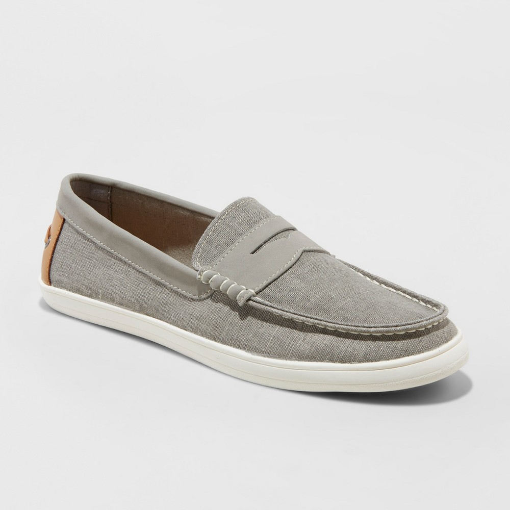 Men's Lewis Style Loafers - Goodfellow & Co Gray 8