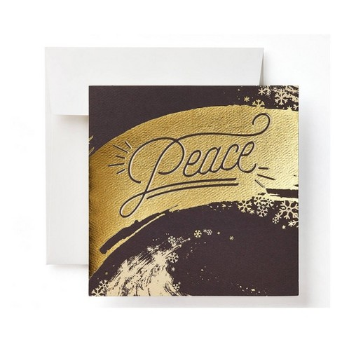 """Peace"" Lettering Cello Card - image 1 of 1"