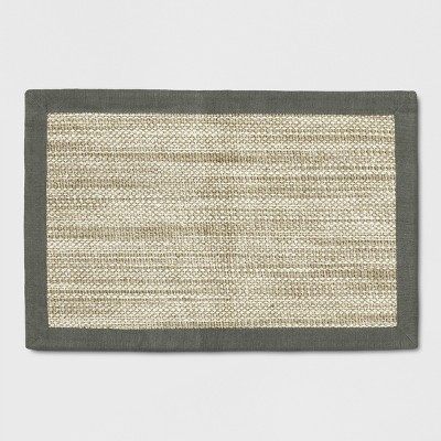 2'X3' Woven Accent Rug Solid Tan - Threshold™