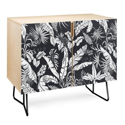 Marta Barragan Camarasa Jungle Credenza Black - Deny Designs