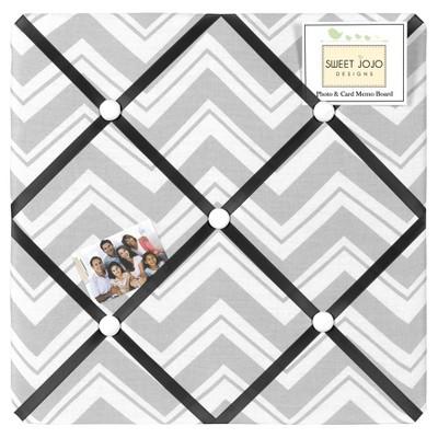 Zig Zag Photo Memo Board (13x13)Gray and Black - Sweet Jojo Designs