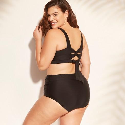 7844324ad4 Women s Plus Size Twist Back Bikini Top - Kona Sol™ Black 16W   Target