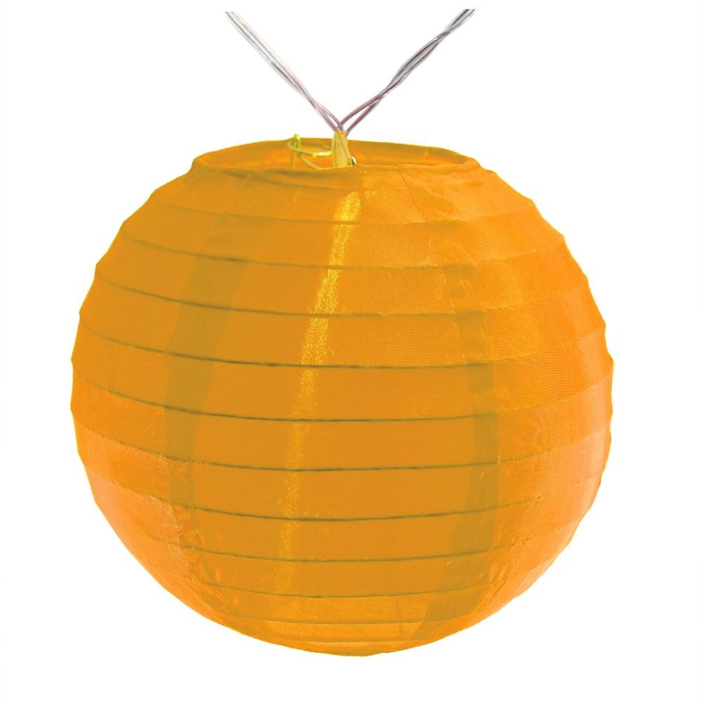 Image of 10ct Lumabase Orange Nylon Led Battery Powered String Lights