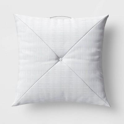 Reversible Floor Cushion DuraSeason Fabric™ Tan/Veranda Stripe - Threshold™