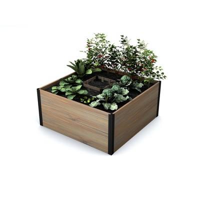 4'x4' Mezza Keyhole Square Garden Bed Planter - Vita
