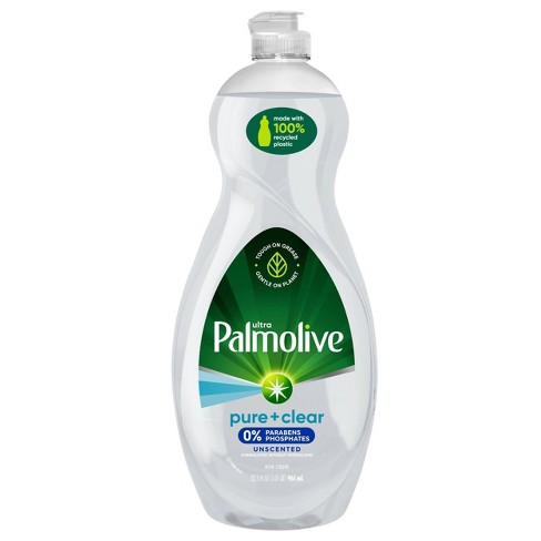 Palmolive Ultra Pure + Clear Liquid Dish Soap Detergent - Fragrance Free - 32.5 fl oz - image 1 of 4