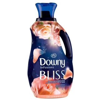 Downy Infusions Liquid Fabric Softener, Bliss, Sparkling Amber & Rose - 48oz