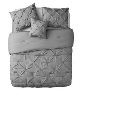 Gray Nilda Comforter Set (Queen)- VCNY®