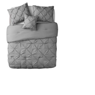 King Carmen Comforter Set Gray - VCNY