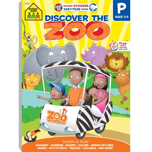 Discover The Zoo Adventure Workbook, Ages 3-5 (School Zone Publishing) (Paperback) - image 1 of 8