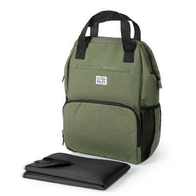 Fulton Bag Co.Wide Mouth Backpack Diaper Bag - Olivine