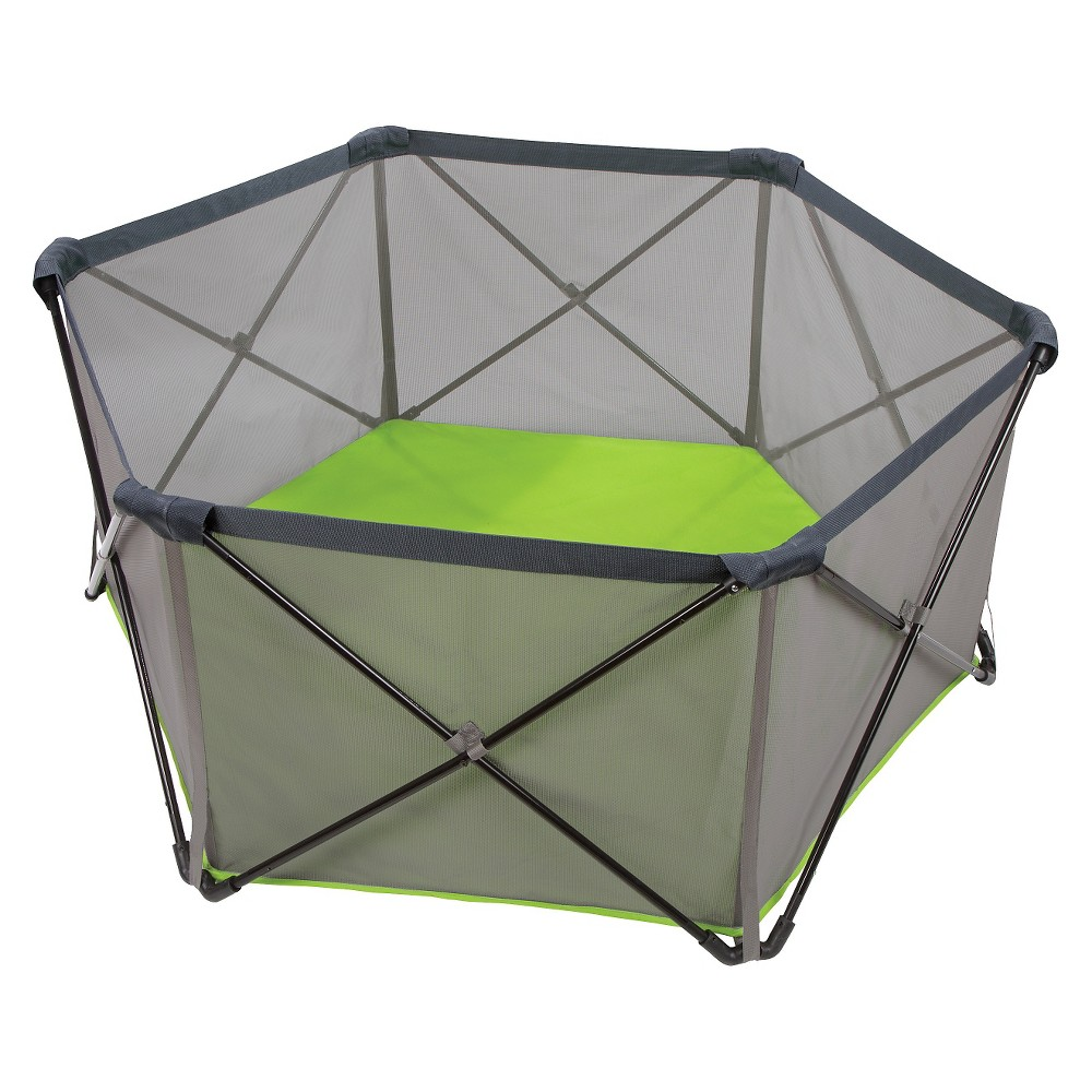 Summer Infant Pop 'n Play Portable Playard, Tropical Lime/Grey