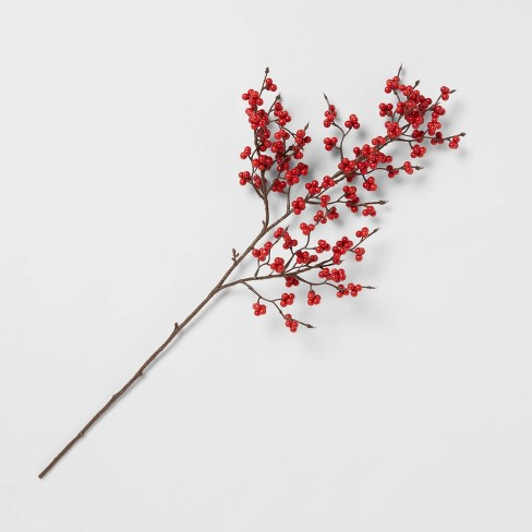 """28"""" Artificial Frosted Berry Stem Red - Threshold™ - image 1 of 3"""