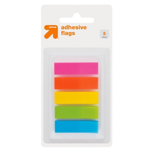 Adhesive Flags 5 Pads 150ct Solid Multicolor - Up&Up™ - image 1 of 3