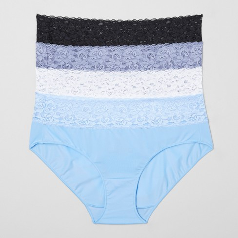 d871af4caa0 Hanes Women s Invisible Lace Waistband Microfiber Hipster 4pk LW41AS  (Colors May Vary)   Target