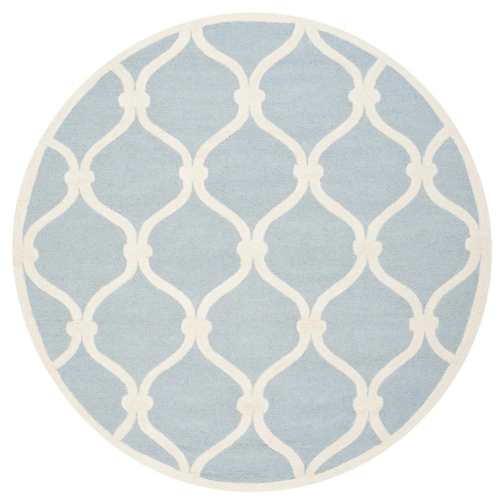 Safavieh Benson Area Rug - Blue / Ivory ( 6' Round ), Blue/Ivory