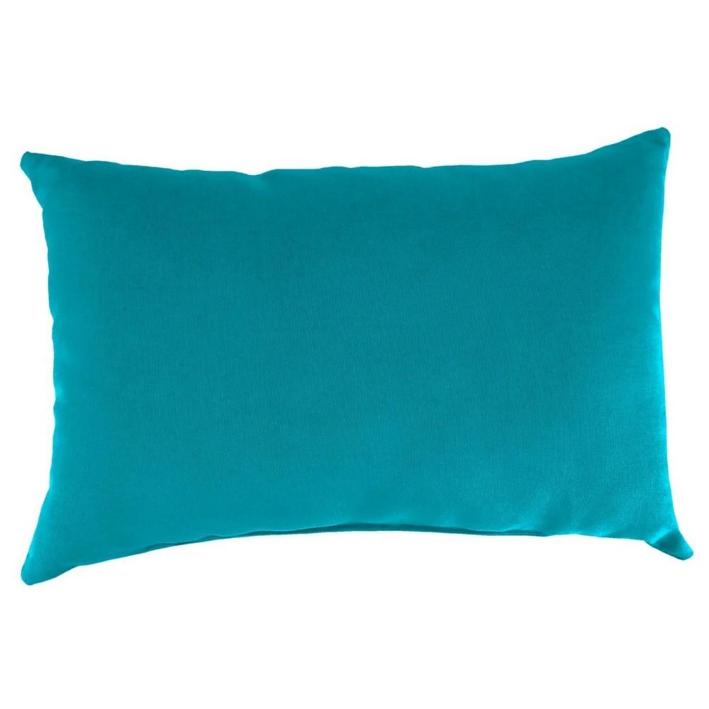 Outdoor Throw Pillow Set Jordan Manufacturing Washed Turquoise