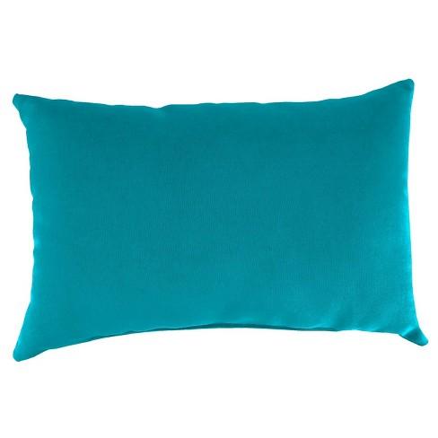 Outdoor Throw Pillow Set Jordan Manufacturing Washed Turquoise Target