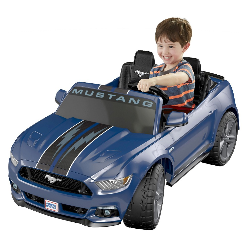 Fisher-Price Power Wheels Smart Drive Ford Mustang - Blue