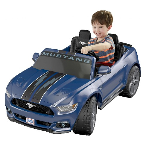 Power Wheels 12v Smart Drive Ford Mustang Powered Ride On Blue Target