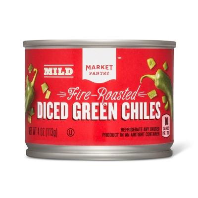 Diced Green Chiles Mild 4oz - Market Pantry™
