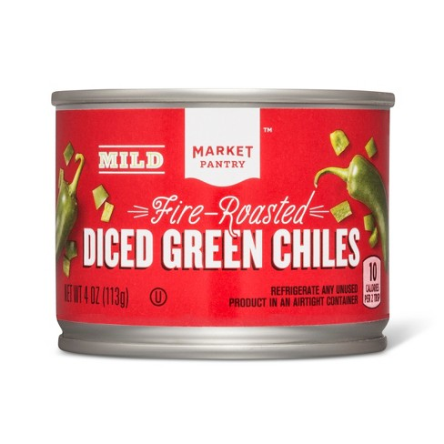 Diced Green Chiles Mild 4oz - Market Pantry™ - image 1 of 2
