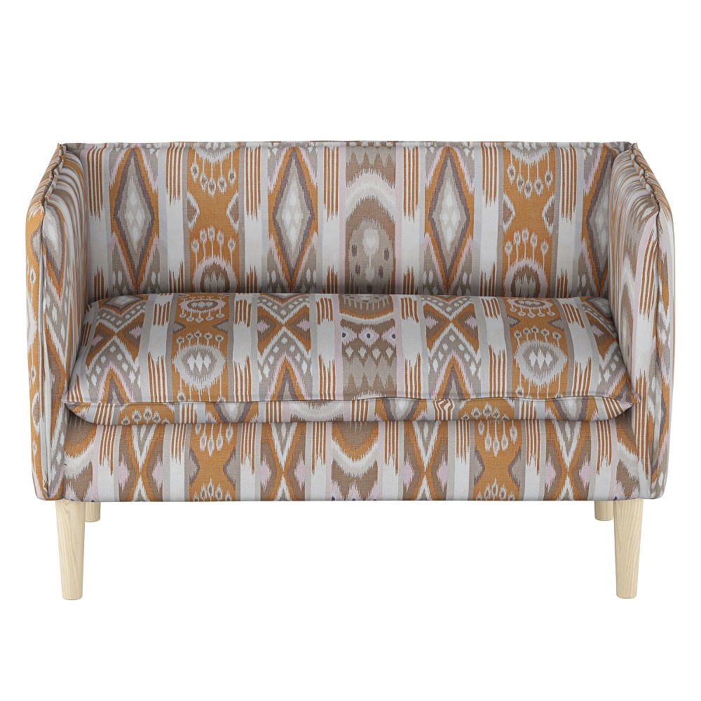 French Seam Settee Jetsetter Cognac with Natural Legs - Project 62