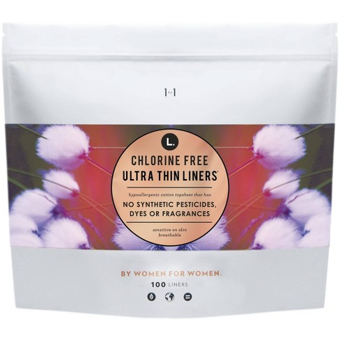 L. Chlorine Free Ultra Thin Liners - 100ct - image 1 of 3