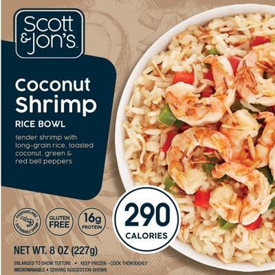 Scott & Jon's Coconut Shrimp Frozen Rice Bowl - 8oz