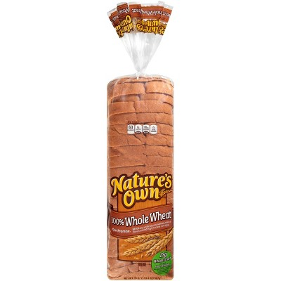 Nature's Own 100% Whole Wheat Bread - 20oz