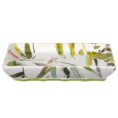 Fiji Soap Dish White/Green - Creative Bath