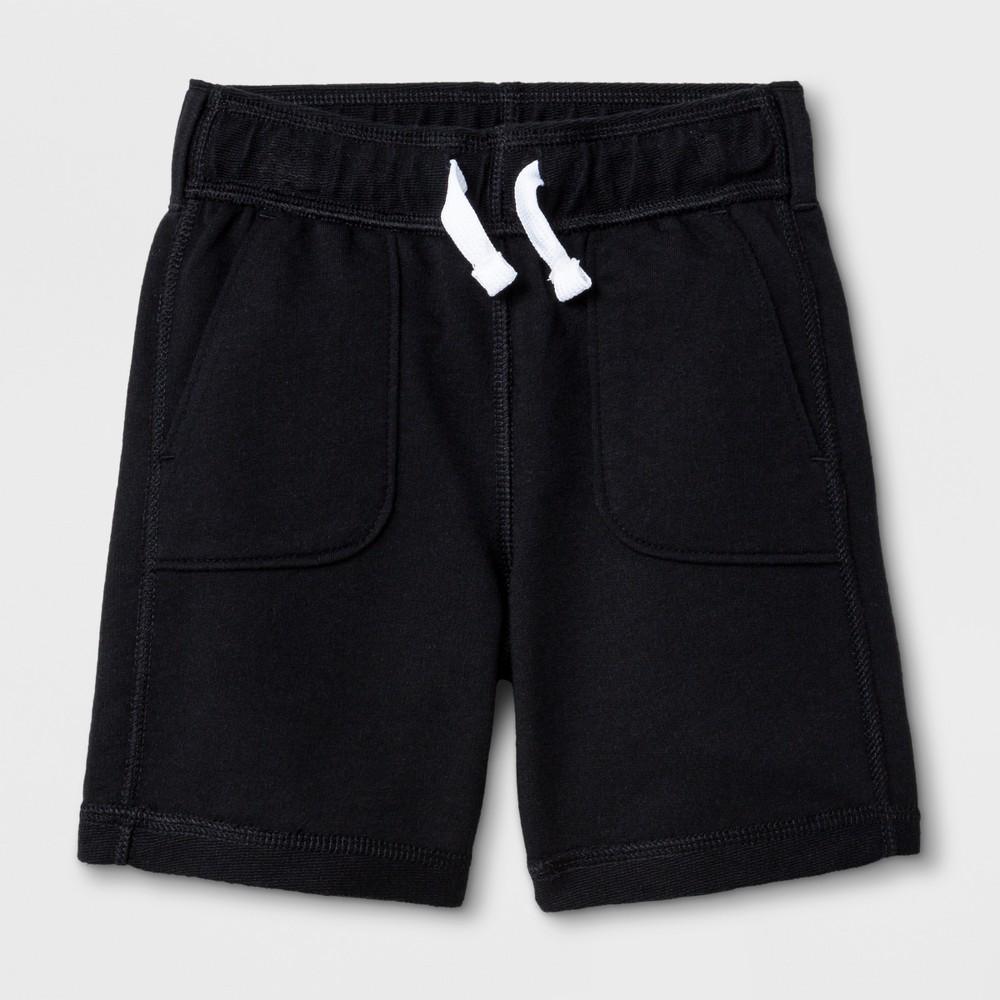 Toddler Boys' Adaptive Knit Shorts - Cat & Jack Black 2T