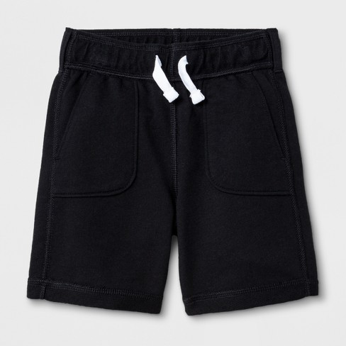 Toddler Boys' Adaptive Knit Shorts - Cat & Jack™ Black - image 1 of 1