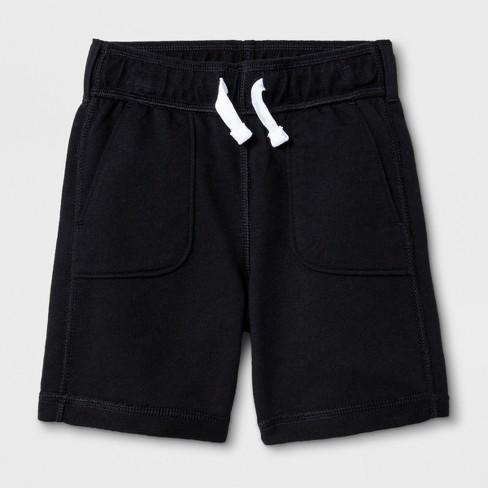 Toddler Boys' Adaptive Knit Shorts - Cat & Jack™ Black 2T - image 1 of 1