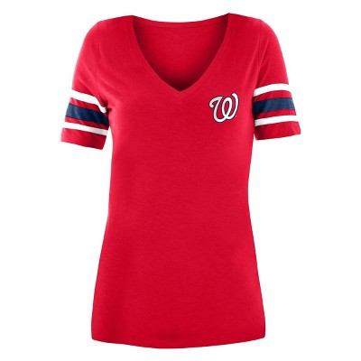 MLB Washington Nationals Women's Pitch Count V-Neck T-Shirt