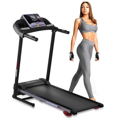 SereneLife SLFTRD26BT Smart Digital LCD Display Hydraulic Folding Running Treadmill Home Fitness Gym Exercise Equipment with Bluetooth Connectivity