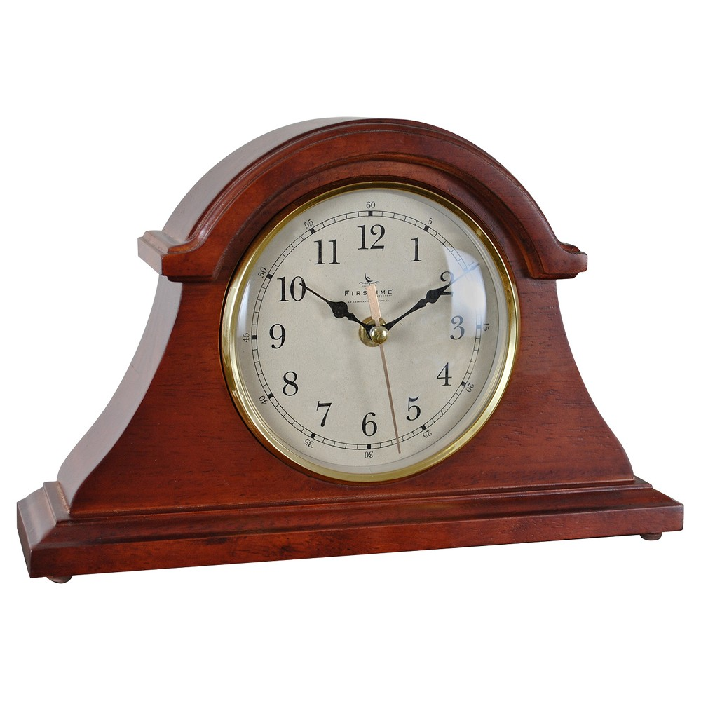 FirsTime Brownstone Napoleon Tabletop Clock Cherry Finish Wood