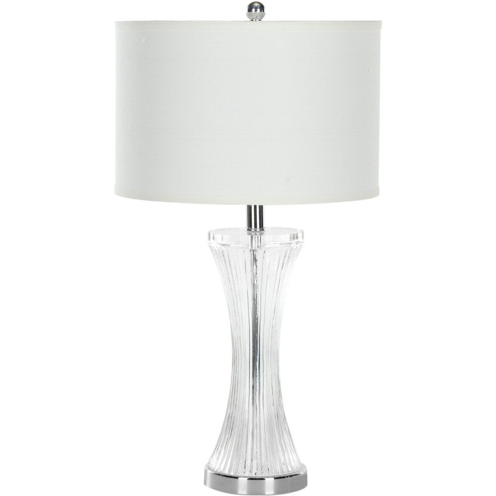Zelda 25Inch H Glass Table Lamp Clear (Includes Energy Efficient Light Bulb) - Safavieh