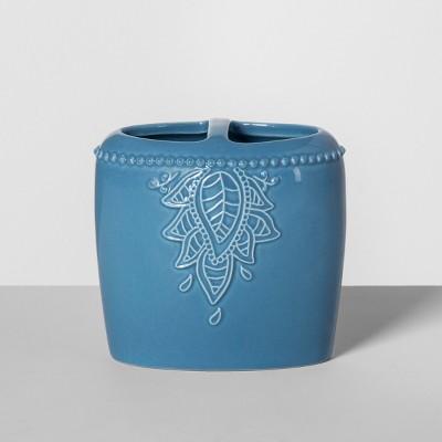 Santorini Ceramic Toothbrush Holder Blue - Opalhouse™