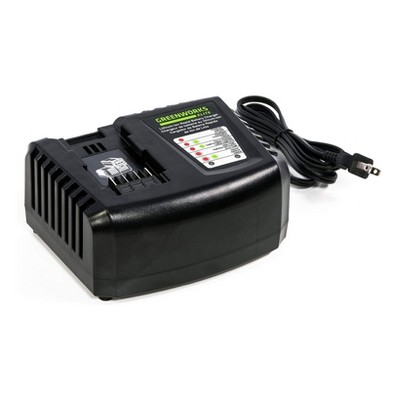 Greenworks C-400 40V 3Ah Rapid Lithium Ion Battery Lawn Care Power Tool Charger with Diagnostic LED Indicator