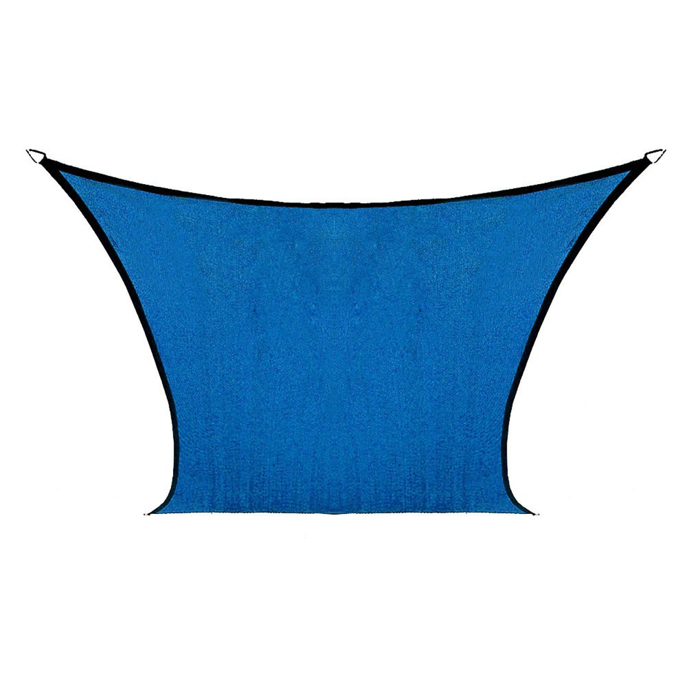 Image of 7.5' Coolhaven Shade Sail Kit Square - Sapphire - Coolaroo, Size: 12' Square, Blue