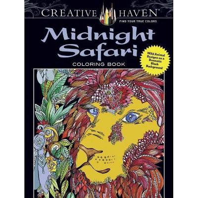 - Creative Haven Midnight Safari Coloring Book - (Creative Haven Coloring  Books) By Lindsey Boylan : Target