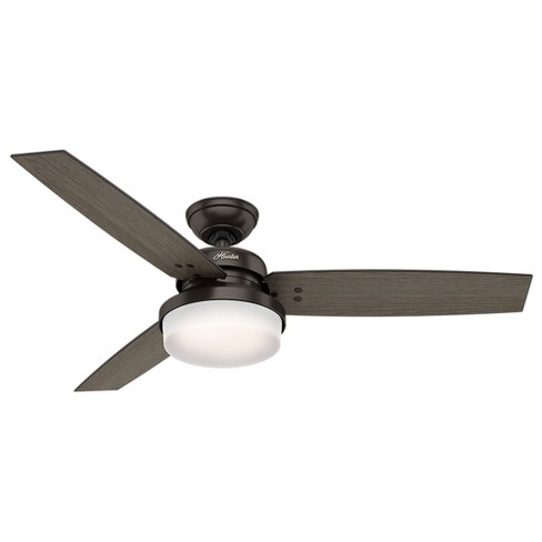 "52"" Sentinel Premier Bronze Ceiling Fan with Light with Handheld Remote - Hunter Fan - image 1 of 11"