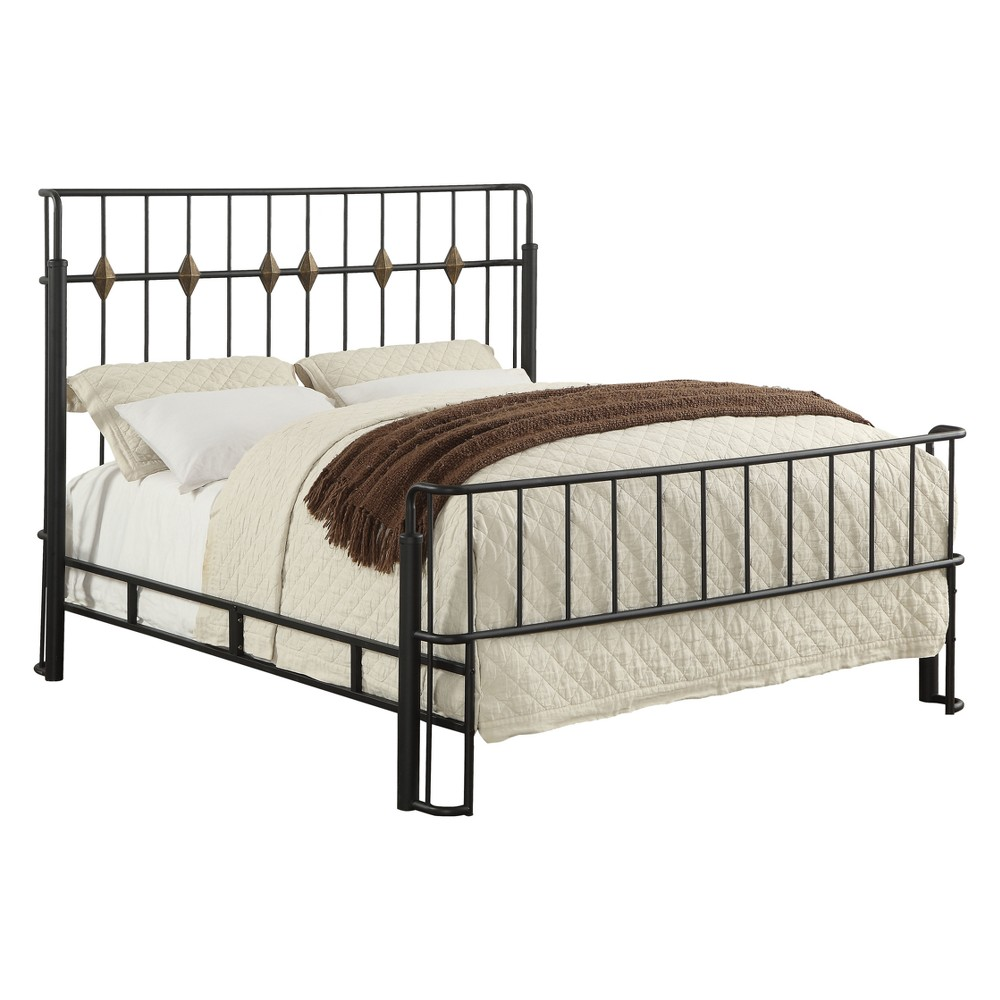 Iohomes Carini Industrial Metal Rail Bed Queen - Homes: Inside + Out