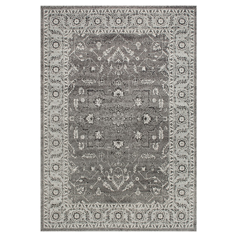 Sterling Gray Solid Loomed Area Rug - (4'x6') - nuLOOM, Dark Grey